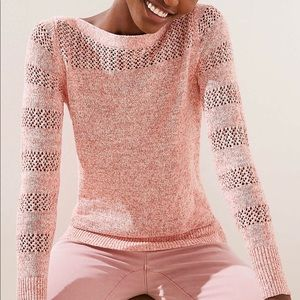 Loft Spacedye Mixed Knit Sweater